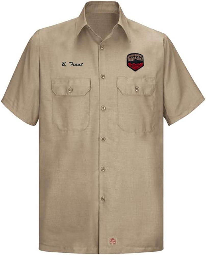 WETFLY Brown Trout Khaki Mens Solid Rip Stop Shirt