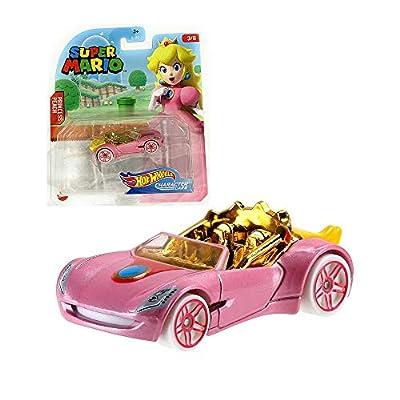 Hot Wheels Gaming Character Car Super Mario 2020 Series-Princess Peach Vehicle(3/8): Toys & Games