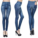 Fashion Jeans for Women, Leggings with Denim Jeans Wash, Stretch Pants,...