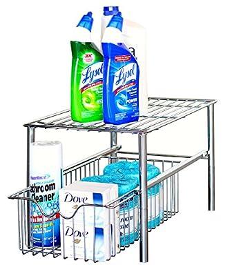 DecoBros Stackable Under Sink Cabinet Sliding Basket Drawer