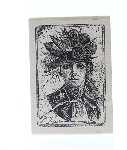 Brittiana High Fashion Lady Woman Stampington And Co Wood Mount Rubber Stamp