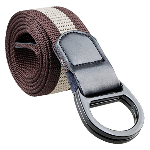 Samtree Nylon Belts for Men,Military Style Double D-ring Buckle Tactial Web - D-ring Ladie Belt