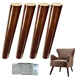 Diy Coffee Table and End Tables 12 inch Wood Sofa Legs Walnut Finished Coffee Table Legs DIY Furniture Feet Replacement Legs for IKEA Buffets Consoles Coffee Table Bed Sideboards Cupboard Dresser Armchair Footstool Pack of 4