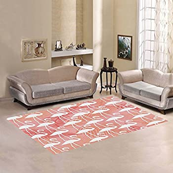 Amazon.com: InterestPrint Wolf Howling at Moon Area Rugs Carpet 7 x ...