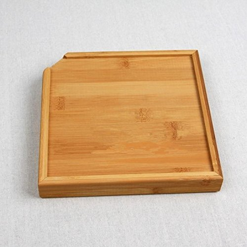 Amazon.com: Bamboo Storage Tray Cutlery Square Kitchen Pallet Bandeja Decorativa Container Dish: Kitchen & Dining