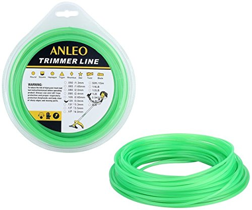 ANLEO 1PCS Professional Residential Grade Square .120-Inch 1-Pound Lawn Trimmer Line Gardening Accessories (Green) by Anleowatch