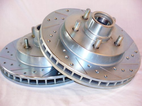 1995 thru 1999 GMC Yukon GT 2wd Front Brake Disc Rotors +Hawk LTS Pads