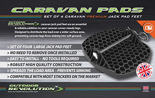 Outdoor Revolution AC450/ basi da fissare ai piedini di stazionamento caravan con perni in metallo confezione da 4