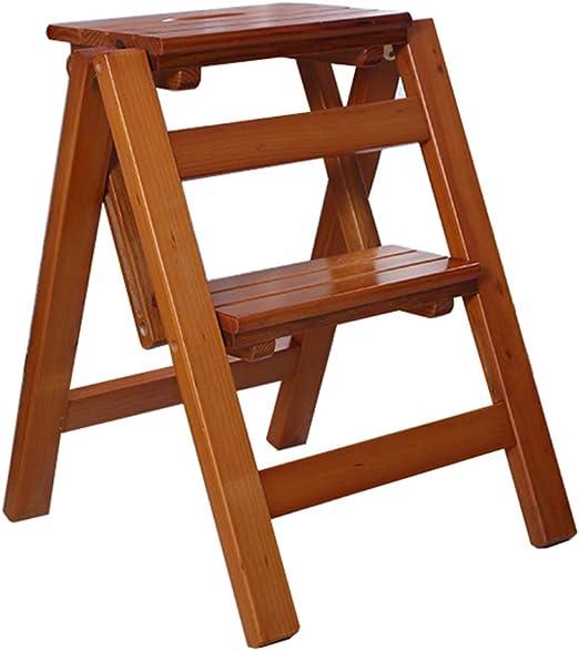 LAXF-stool Taburete de Aprendizaje | Taburete Escalera Plegable de Madera de Pino | Escaleras de escalones | Escalera Ligera Multiusos | Escalera para casa Biblioteca Loft: Amazon.es: Juguetes y juegos