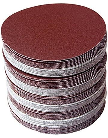 30 discos de papel de lija de 150 mm, discos redondos de papel de lija