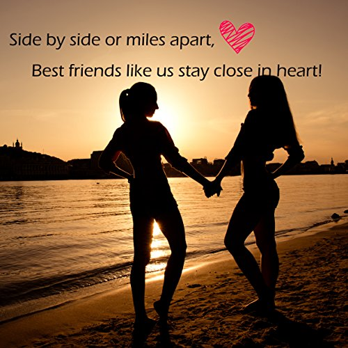 Ensianth Best Friend Gift Side By Side Or Miles Apart Puzzle Jewelry
