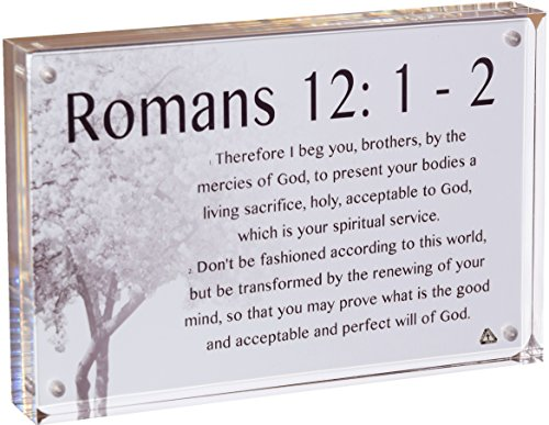 EMM Faith Popular Scripture Cards (10-Pack) with 1 Acrylic Display Frame and 1 Ribbon-Adorned Envelope