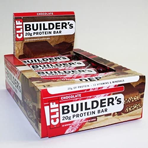 CLIF BUILDER'S - Protein Bar - Crunchy Peanut Butter - (2.4 oz, 12 Count) by Clif Bar