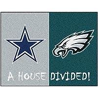 Fanmats 15665 Team Color 33.75 x 42.5 Rug (NFL - Cowboys - Eagles House Divided)