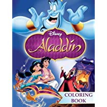 Aladdin Coloring Book Jin Abu Jasmine Great For Children