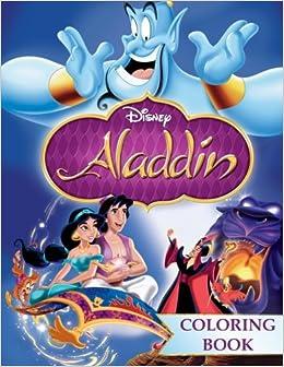 Aladdin Coloring Book Jin Abu Jasmine Great For Children Disney Carter 9781547090730 Amazon Books