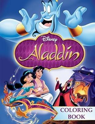 Aladdin Coloring Book: Jin, Abu, Jasmine. Great Coloring Book For ...
