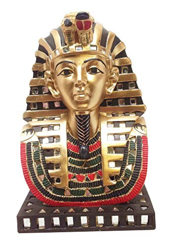 (Ebros Ancient Egyptian Pharaoh Mask Of King Tut Statue Golden Tutankhamun Bust)