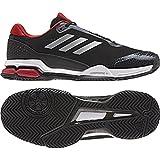 adidas Performance Men's Barricade Club Tennis Shoe, Black/Matte Silver/White, 8 M US
