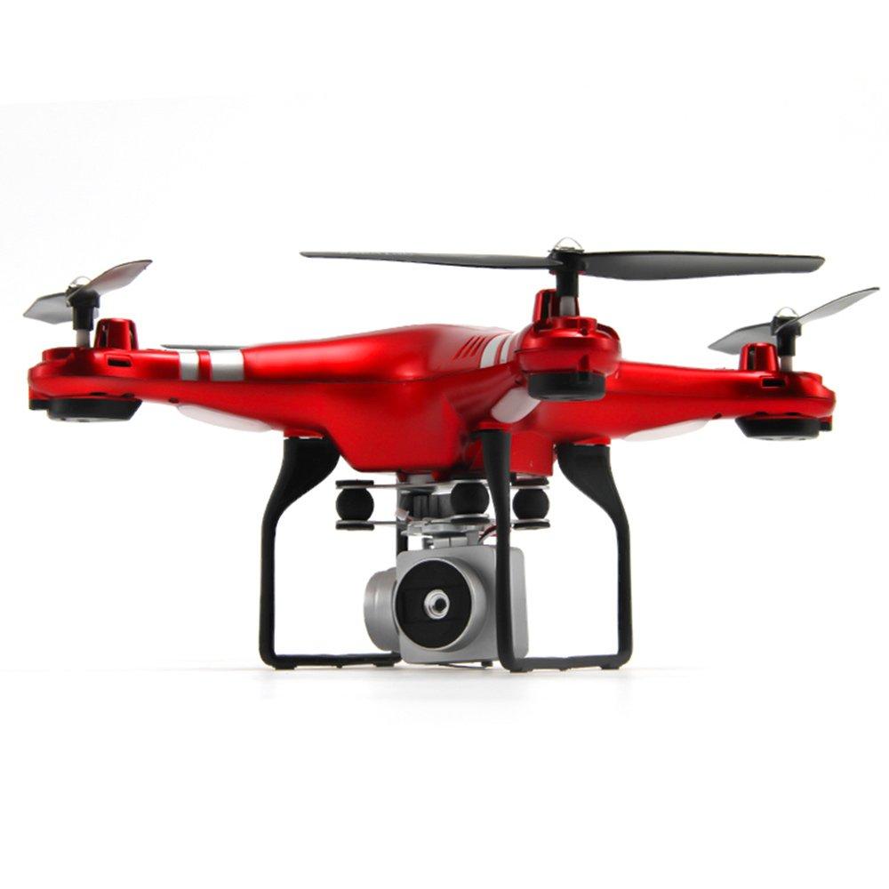 Hanbaili control remoto Quadcopter Drone con 2 megapíxeles Cámara HD 1080P de ángulo ancho de 120 °, Modo sin cabeza Altitude Hold Despegue con 1 botón y Quadcopter terrestre SH5W Drone, con control r