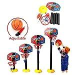 DIYARTS-Set-di-Canestro-Basket-Set-di-Canestro-da-Basket-Regolabile-per-Supporto-da-Tavolo-Posteriore-per-Bambini-Giochi-da-Esterno