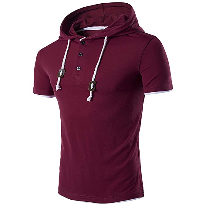 New Large L Polo Ralph Lauren Mens hooded Rugby shirt T-shirt hoodie burgundy