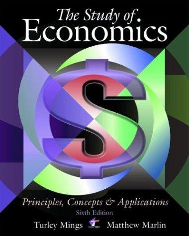 The Study of Economics: Principles, Concepts and Applications
