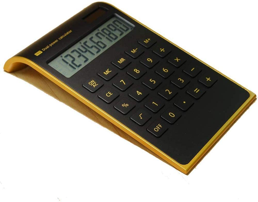 Calculator,10 Digits Dual Powered Desktop Calculator Large LCD Display Slim Desk Calculators