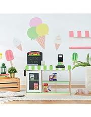 Teamson Kids TD-13206B Cashier Market Stand speelgoed supermarkt, groen