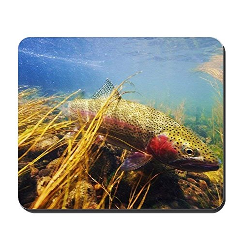 Rainbow Trout - Fly Fishing - Non-Slip Rubber Mousepad, Gaming Mouse Pad