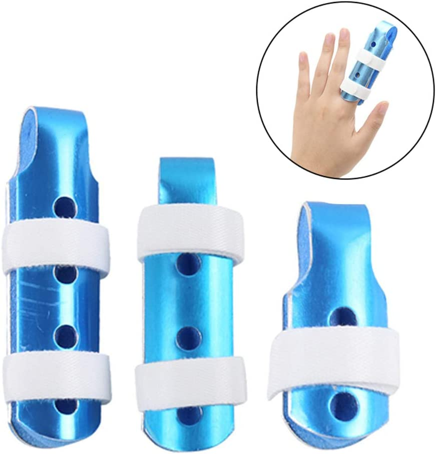 Aluminum Finger Splint,Adjustable Two Finger Splint Full Hand and Wrist Brace Support, Metal Straightening Immobilizer Treatment for Sprains, Mallet Injury, Arthritis 51G1DSME50L