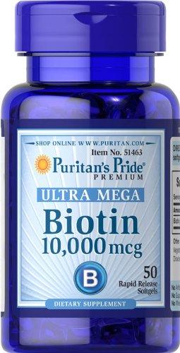 PURITANS PRIDE - BIOTINA 10.000 MCG 50 Comprimidos: Amazon.es: Salud y cuidado personal