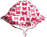 Twinklebelle Toddler Sun Hat With Chin Strap, Drawstring Adjust Head Size, Breathable 50+ UPF (M: 9m - 3Y, Butterfly)