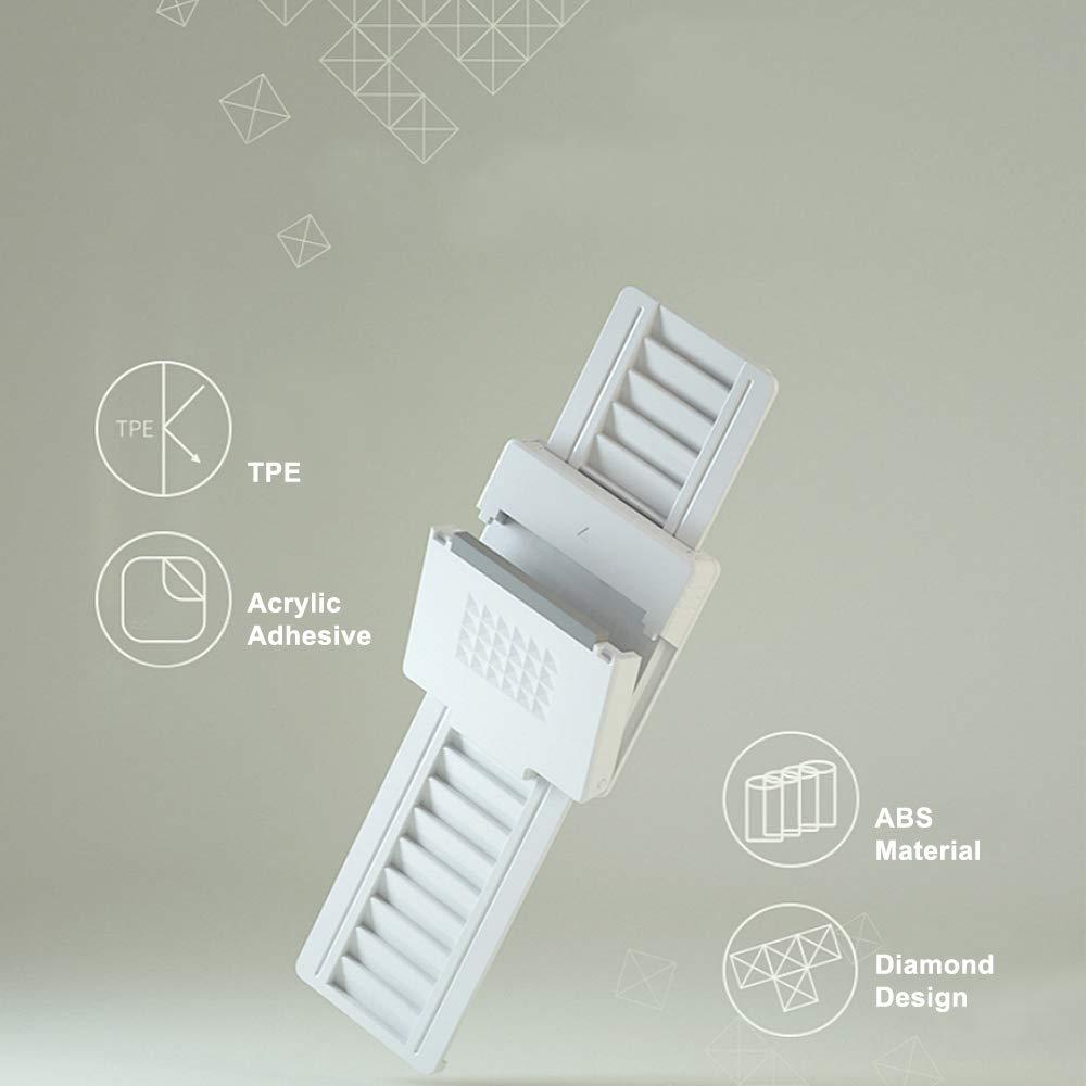 White Sliding Window Locks 4 Packs Adjustable Sliding Door Locks with Strong Acrylic Adhesive