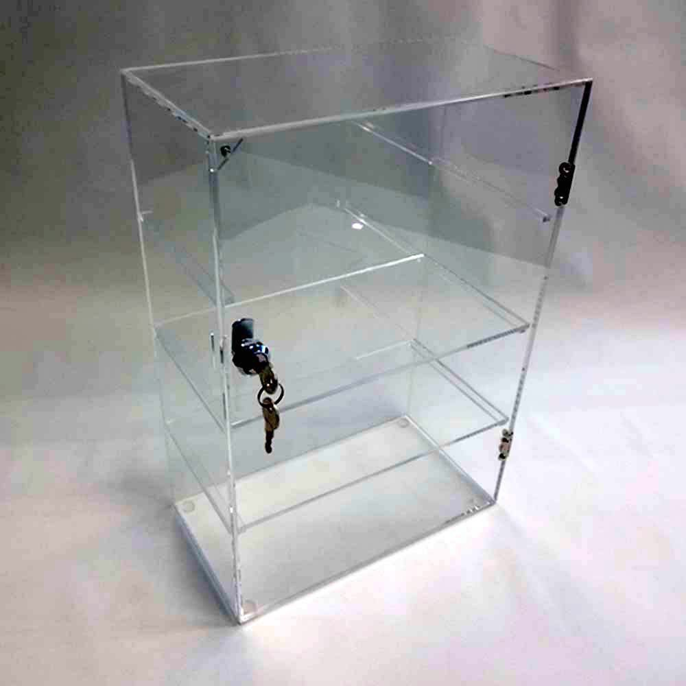 Acrylic Lucite Countertop Display Case Showcase Box Cabinet 12'' X 6'' X 16'' by Marketing Holders (Image #4)
