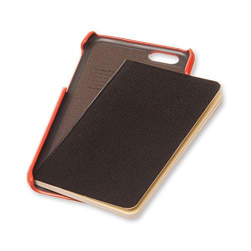 Moleskine Peach Orange Classic Original Hard Case for iPhone 7/7s