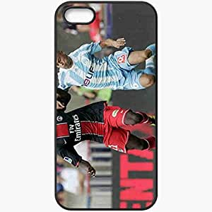Personalized iPhone 5 5S Cell phone Case/Cover Skin Amara Diane Football Black