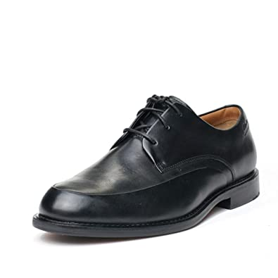eecb6be6e0cf4 Clarks Mens Smart Dorset Apron Leather Shoes In Black Wide Fit Size ...