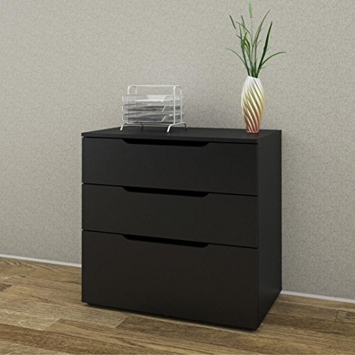 Next 3-Drawer Filing Cabinet 600306 from Nexera, Black by Nexera