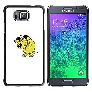KOKO CASE / Samsung GALAXY ALPHA G850 / dibujo animado del perro personaje cómico arte dibujo / Delgado Negro Plástico caso cubierta Shell Armor Funda Case Cover