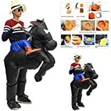MD Group Halloween Party Home Inflatable Black Horse Costume Adult Air Blowup Funny for Kids Toys