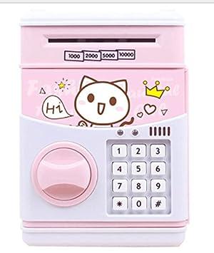 YOIL de Decoración Hucha Cajas de Ahorro Regalo Child Lockbox Piggy Bank Carga de Ahorro Banco Regalos creativos (Pink Cat): Amazon.es: Juguetes y juegos