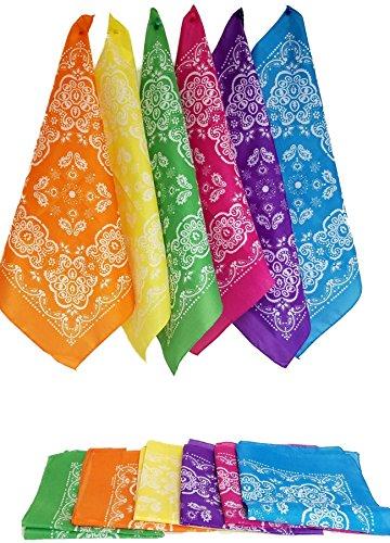 Neon Polyester Bandanas, 12 - Pieces -