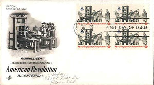 - American Revolution Centennial Block of Stamps Original First Day Cover