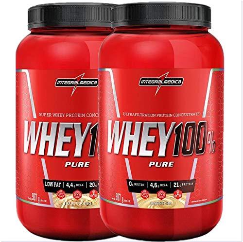 2x Whey 100% Pure 907g Cappuccino E Baunilha Integralmedica
