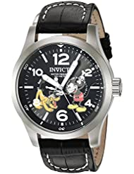 Invicta Men's 'Disney Limited Edition' Quartz Stainless Steel Casual Watch, Color:Black (Model: 22873)