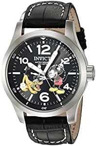 Invicta Men's Black Dial Leather Band Watch - IN-22873