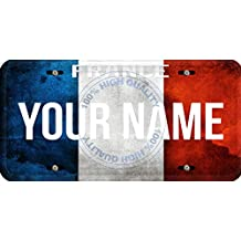 Personalized Custom Name License France Flag Car Vehicle License Plate Auto Tag