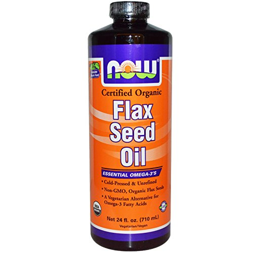 Cheap Now Foods Flax Seed Oil, 24 oz (Pack of 2)