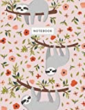 Notebook: Sloth Pink Blush Notebook (Composition Book, Journal) (8.5 x 11 Large)